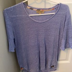 Burberry Linen Top, size Small
